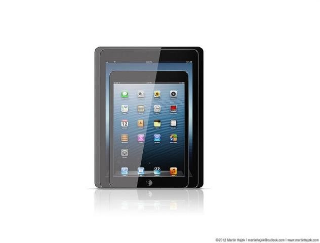 Size comparison between iPad mini, iPad 5, and iPad 4.