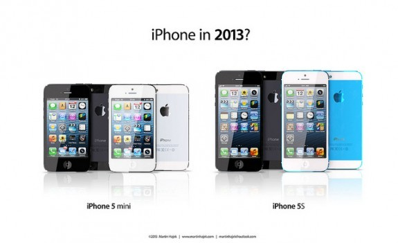 Concept design for iPhone 5 mini and iPhone 5S
